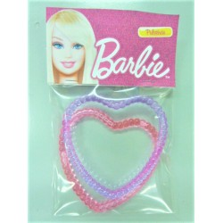 Barbie heart shape Plastic Bangle 2 pcs set
