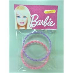 Barbie round shape Plastic Bangle 2 pcs set