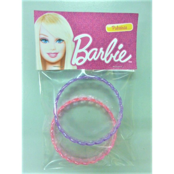 Barbie round shape Plastic Bangle 2 pcs set
