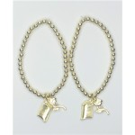 Disney Princess  2 pc charms bracelet
