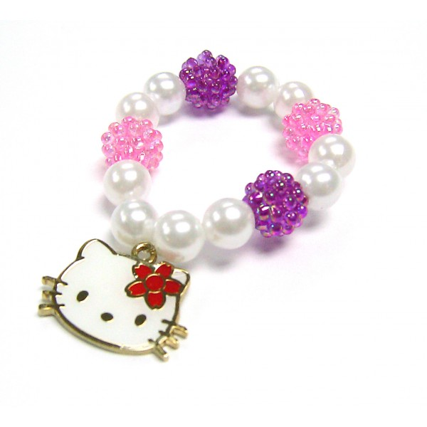 Hello Kitty Charms Beads Bracelet