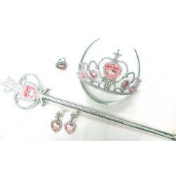 Hello Kitty Ring Earring Wand Crown set