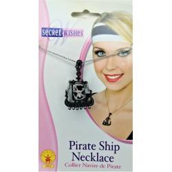 Rubies Women Fashion Pirate Ship Charm Necklace
