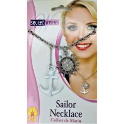 Rubies Women Fashion Sailor Necklace