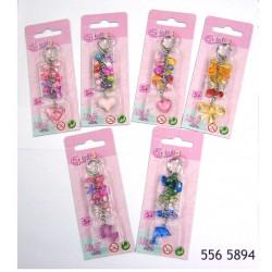 Simba beads key chain 6 Assorted