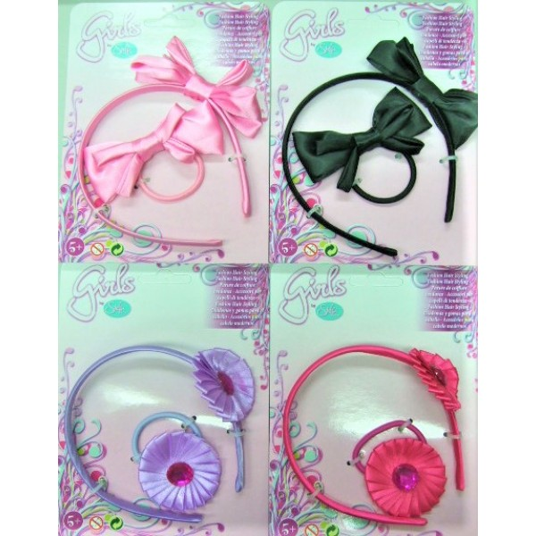 Simba 2 PCS Head band on card 4 Assorted