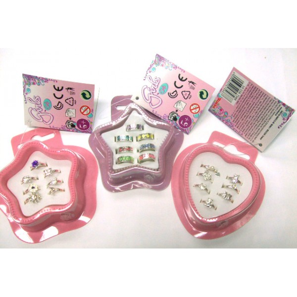 Simba 7 pcs Kids Ring box set 3 Assorted