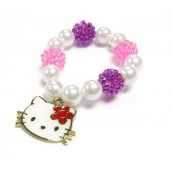 Hello Kitty Charms Beads Bracelet