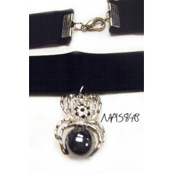 Women Fashion Choker with spider pendant